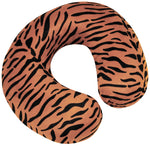 Tiger print neck/travel cushion on a white background