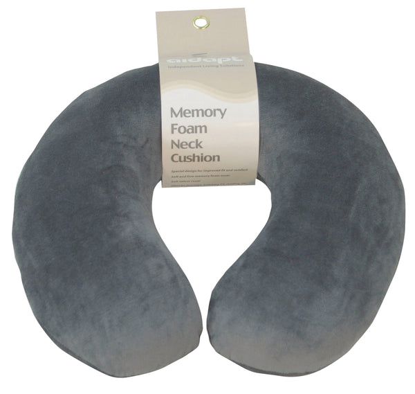 Dove Grey neck/travel cushion on a white background