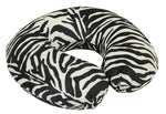 Zebra print neck/travel cushion on a white background