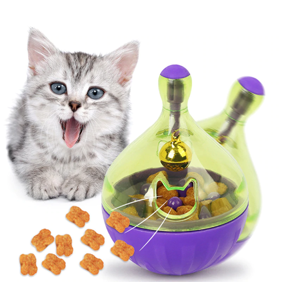 INTERACTIVE PUZZLE CAT FEEDING TOY