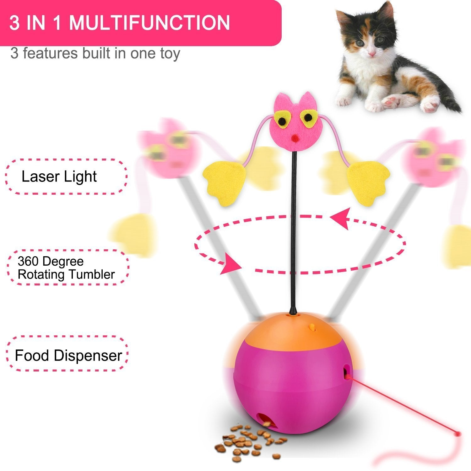 MULTIFUNCTIONAL TUMBLER TEASER CAT TOY