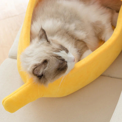 CatPrestige® Cute Banana Cat Bed