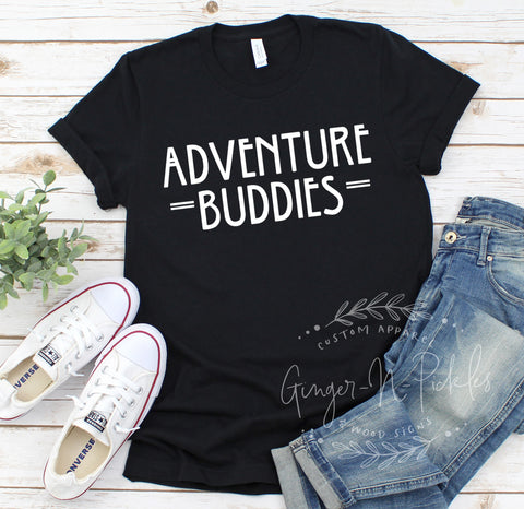 Adventure Buddies Short Sleeve Shirt, Matching Adventure Partners Shirts, Travel and Wanderer Shirts