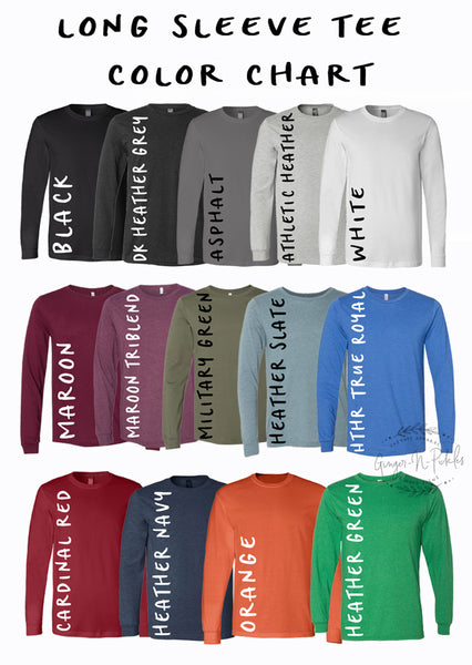 Unisex Long Sleeve Crew Neck T-Shirt (With Any Design From Our Store--You Pick The Design)