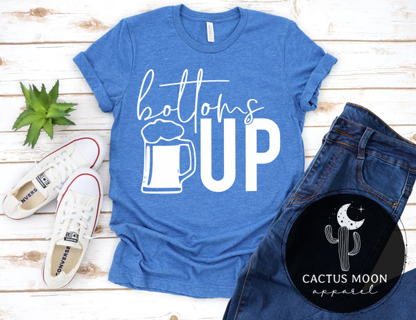 Bottoms Up Shirt, Beer Lover Gift Beer Friends Shirt Funny Beer Drinkers Shirt