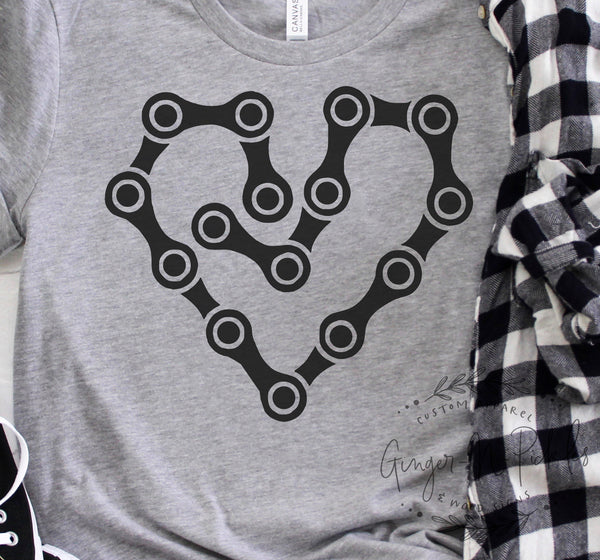 Chain Heart Adult Unisex Short Sleeve Shirt