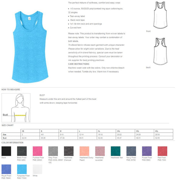 Womens Triblend Relax Fit Racerback Tank (With Any Design From Our Store--You Pick The Design)