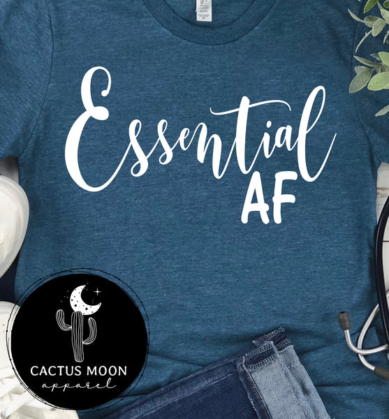 Essential AF Short Sleeve or Long Sleeve Unisex T-Shirt, Essential Staff Shirt