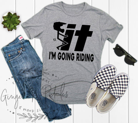 Screw It I'm Going Riding Shirt Funny Stick Figure Fuck It Riding Shirt Funny Dirt Bike Shirt Funny UTV Mudding Moto or BMX Shirt