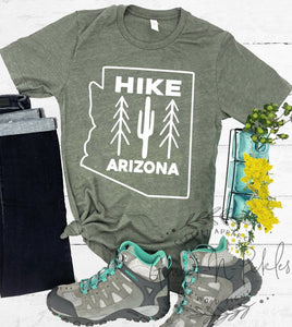 Hike Arizona Short Sleeve Shirt, Funny Adventure and Hiking Shirt