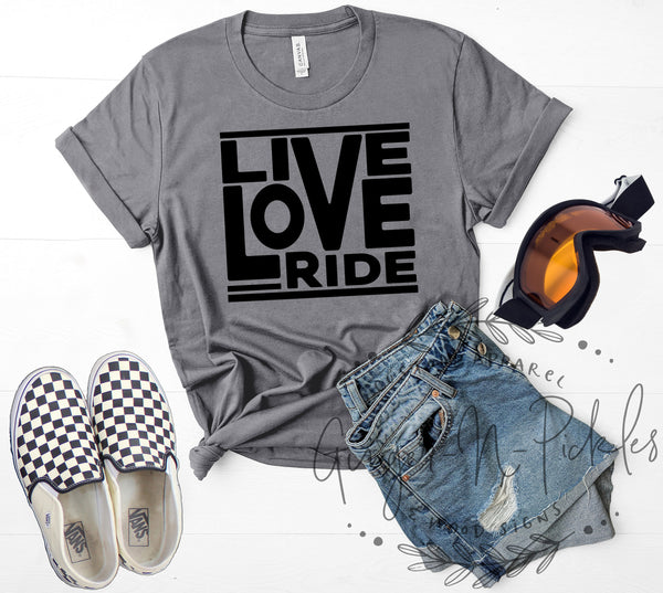 Live Love Ride Shirt, Dirt Bike Shirt Offroad Riding Shirt Race Day Shirt Moto Shirt Cycling Shirt Mountain Bike Shirt Horse Riding Shirt