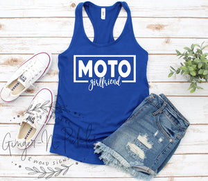 Moto Girlfriend Tank Top or Shirt, Race Girlfriend Shirt, Racing Shirt, Dirt Bike Shirt, Gift for Girlfriend, Dirt Bike Girlfriend Shirt
