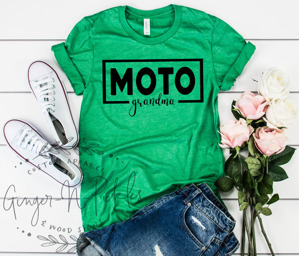 Moto Grandma Shirt, Race Grandma Shirt, Racing Shirt, Dirt Bike Shirt, Gift for Grandma, Dirt Bike Grandma Shirt