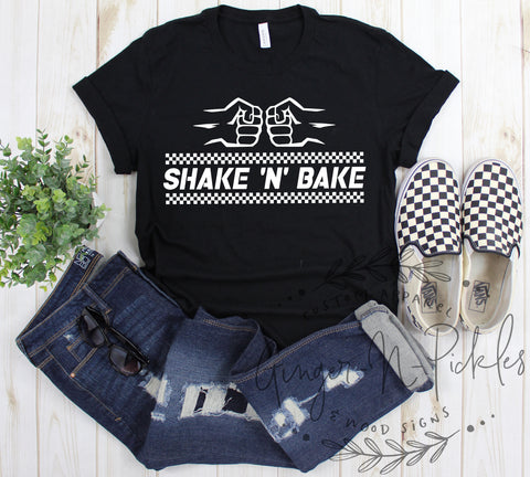 Shake N Bake Shirt, Adult Unisex Short Sleeve Shirt, Shake and Bake Baby, Stock Car Racing Fan Shirt