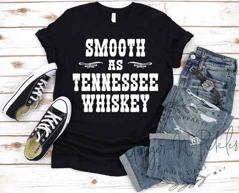 Smooth As Tennessee Whiskey Short Sleeve Shirt, Whiskey Drinkers Shirt, Unisex Country Concert T-Shirt, Music Festival Tee
