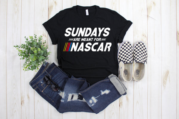 Sundays Are Meant For Nascar Race Day Shirt, Stock Car Racing Fan Shirt, Fast Cars Beer Raceday Shirt