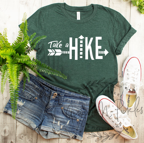 Take A Hike Short Sleeve Shirt, Funny Adventure and Hiking Shirt