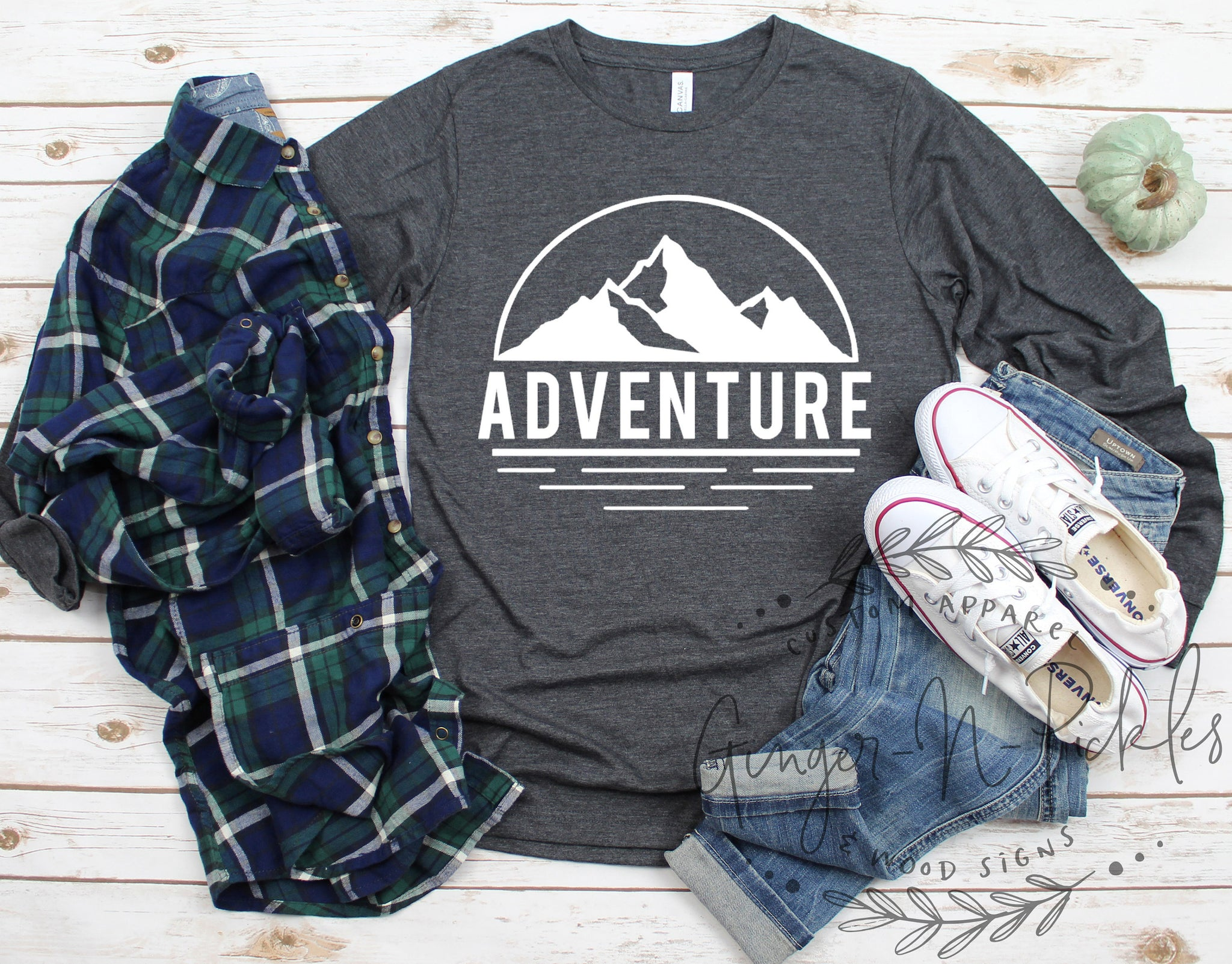 Adventure Long Sleeve Shirt, Vintage Style Graphic Tee, Boyfriend Style T-Shirt, Adventure Shirt Hiking Shirt Get Lost Shirt Boyfriend Shirt