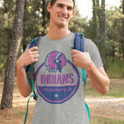Jacksonville Indian T-shirt Star Rating Blue & Puprle