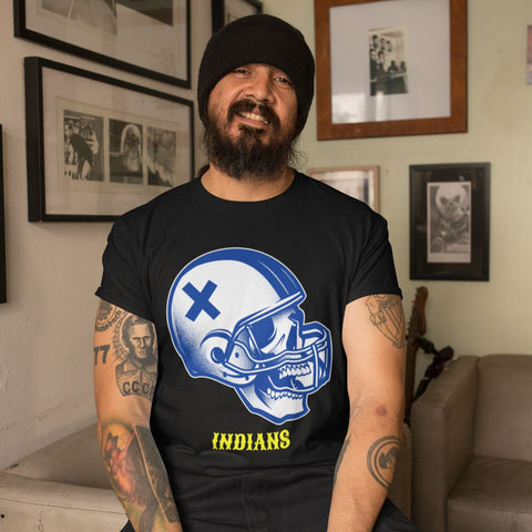 Jacksonville Indian T-shirt Football Skull
