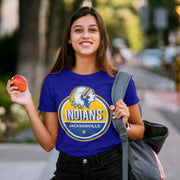 Jacksonville Indian T-shirt Star Rating Blue & Yellow