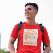Jacksonville Indians T-shirt Basketball Design
