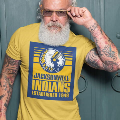 Jacksonville Indians T-shirt Established 1949 Blue