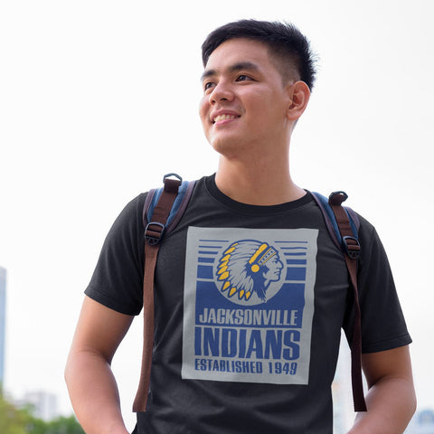 Jacksonville Indians T-shirt Established 1949 Grey