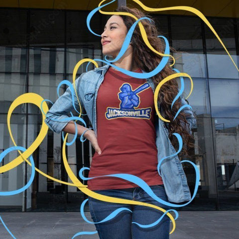 Jacksonville Indian T-shirt Swing Away - Jacksonville Texas Indian Apparel