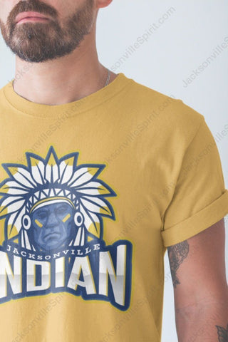 Jacksonville Indian T-shirt The Angry Chief - Jacksonville Texas Indian Apparel