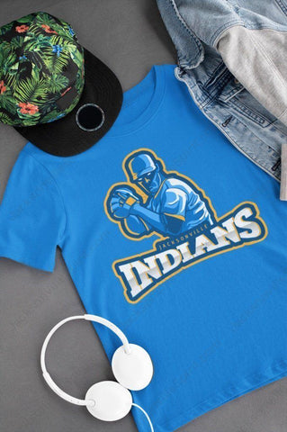 Jacksonville Indians T-shirt Anime Angry Pitcher - Jacksonville Texas Indian Apparel