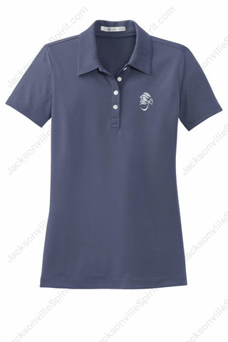Jacksonville Polo Shirt Ladies Nike with embroidered logo - Jacksonville Texas Indian Apparel