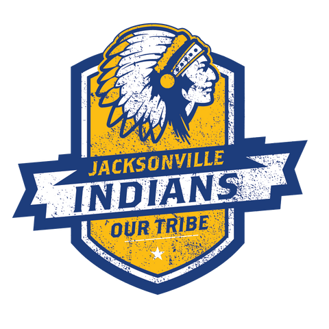 Jacksonville Indian T-Shirt Our Tribe Blue Shield Shirts