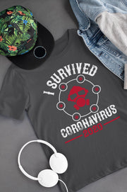 Corona Virus Awareness T-Shirt I Survived Coronavirus 2020 Xs / Dark Grey Shirts