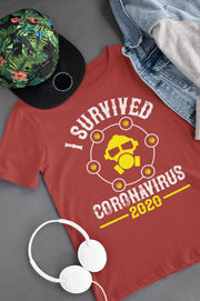 Corona Virus Awareness T-Shirt I Survived Coronavirus 2020 Xs / Red Shirts