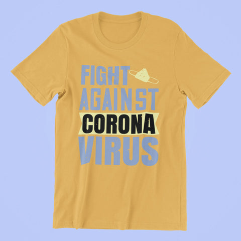 Corona Virus Awareness T-Shirt Fight Against Xs / Gold Shirts