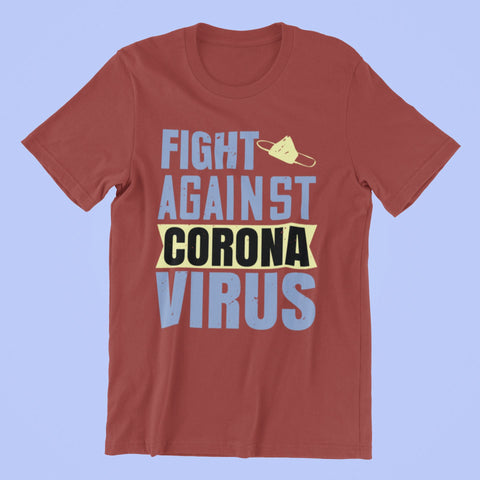 Corona Virus Awareness T-Shirt Fight Against Xs / Red Shirts