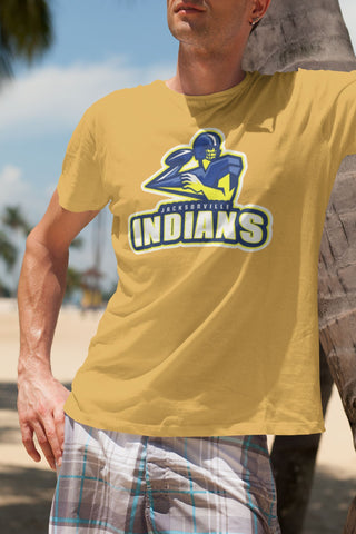 Jacksonville Indian T-Shirt Quarterback Screen Xs / Gold Shirts