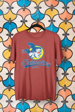 Promo Jacksonville T-shirt needs Klout - Jacksonville Texas Indian Apparel