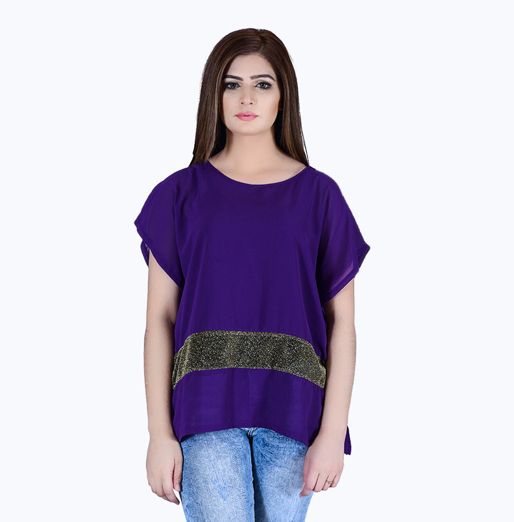 Violet with stripe Top