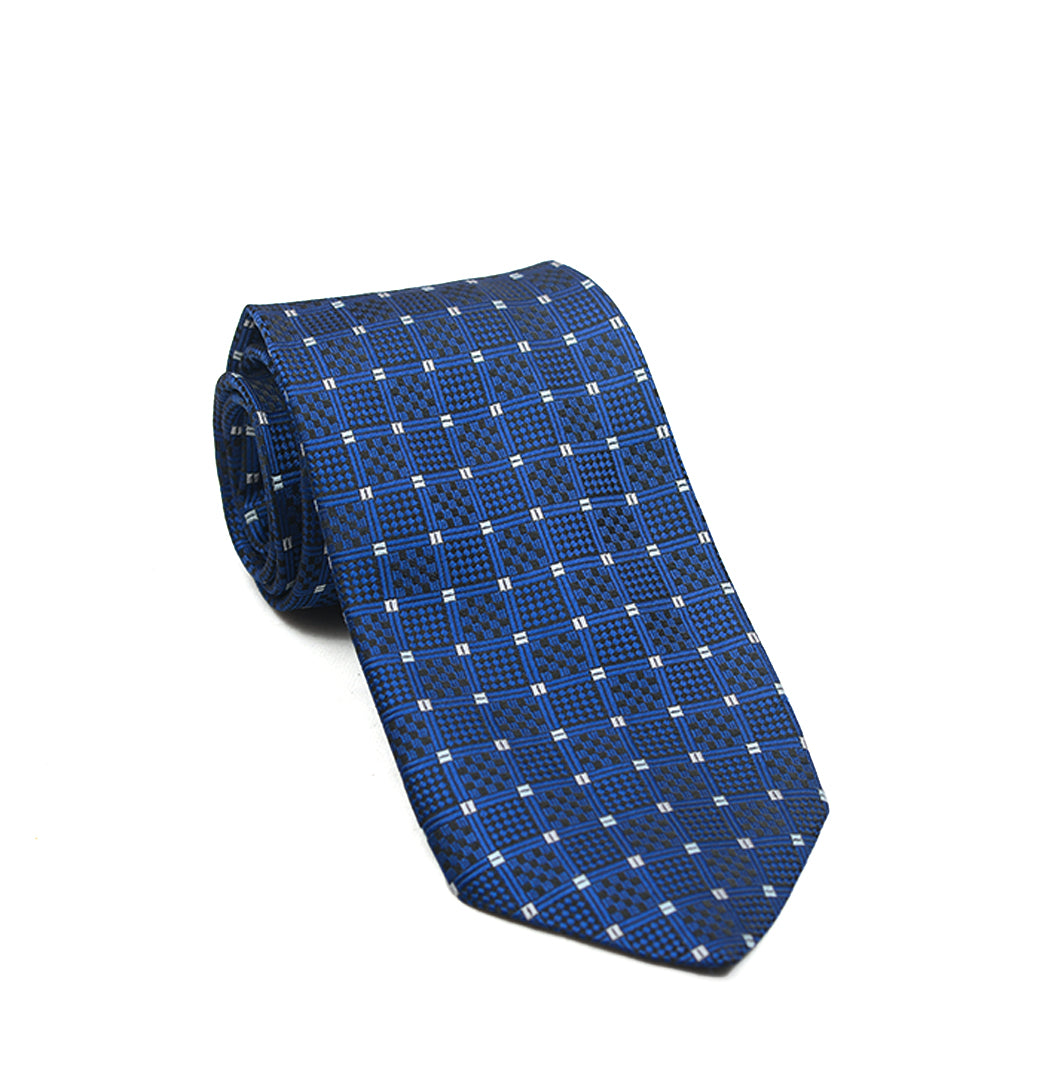 Blue White Dotted Tie