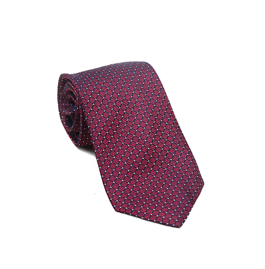 Jam Red Dotted Tie