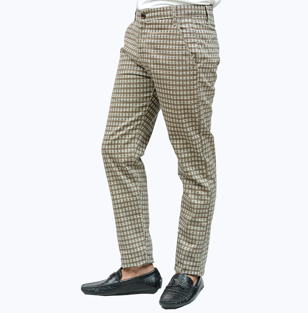 Light Brown Check Pant