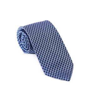 Sky Blue Cross Lining Tie