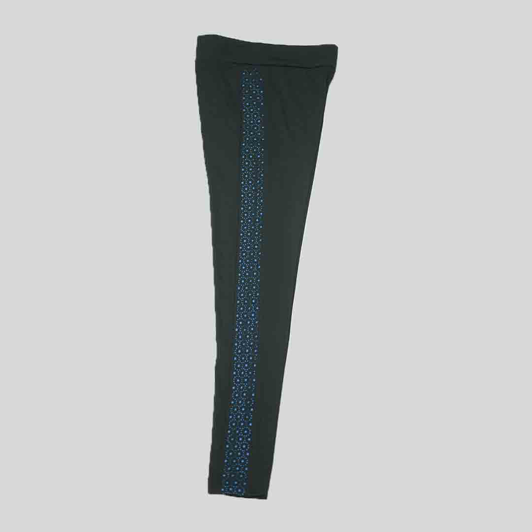 Dotted Navy Blue Print - Women Tights
