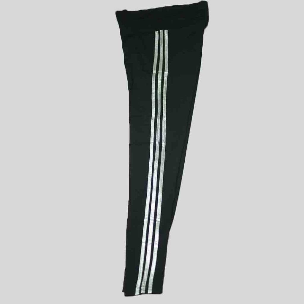 Jet Black with 3 Stripes - Women Tights