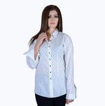 Bone White Collar Top