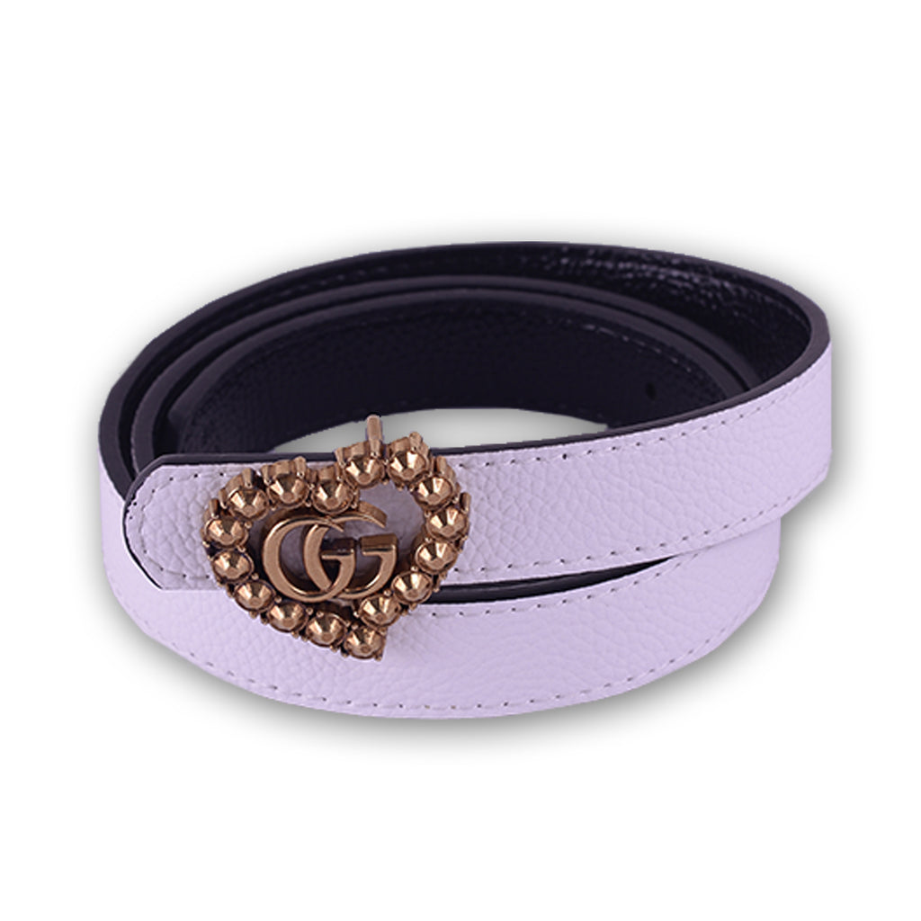 Gucci Women Belt White,Black