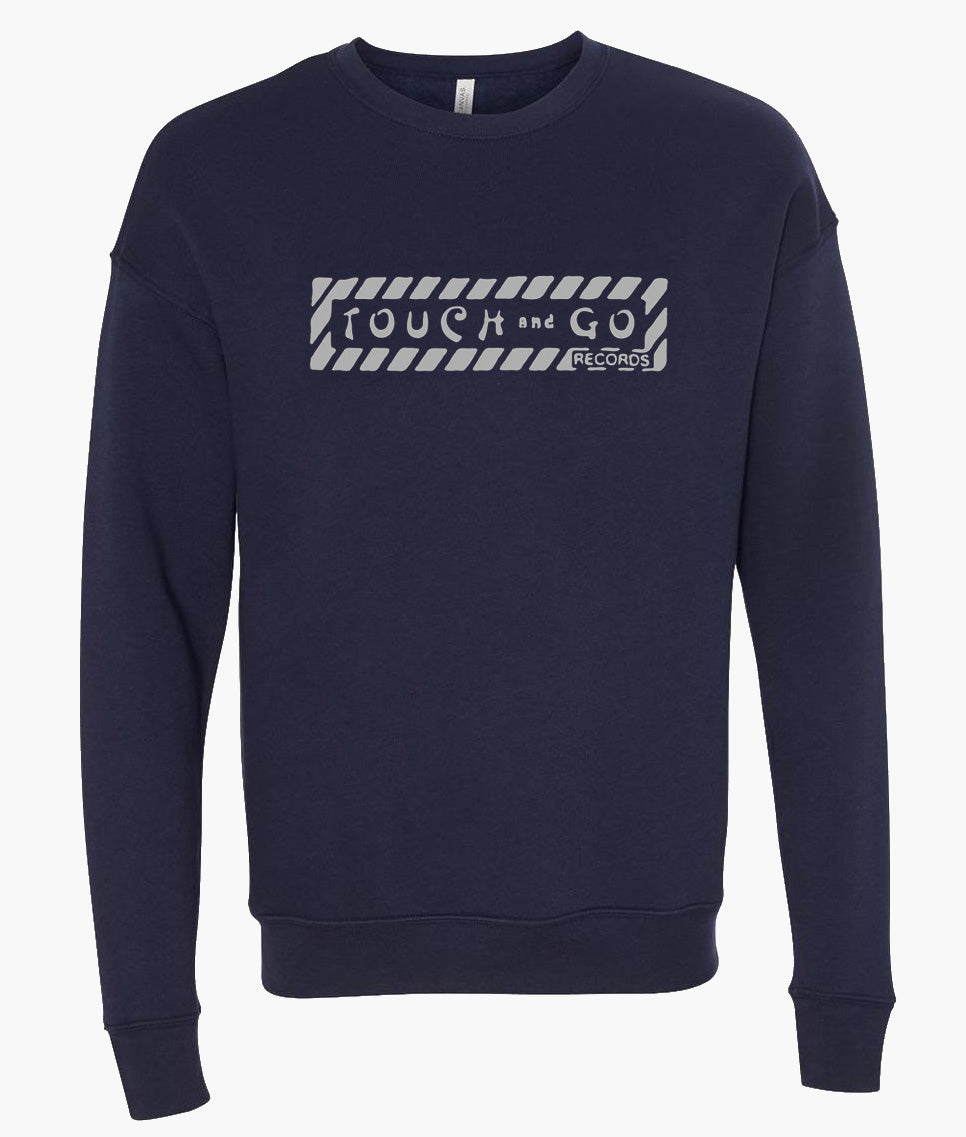 Touch and Go Crewneck Sweatshirt Navy with Light Gray logo