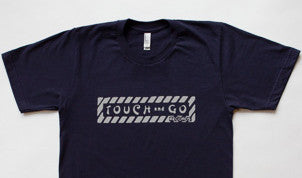Touch and Go Records T-shirt (Navy Blue with Gray Ink)